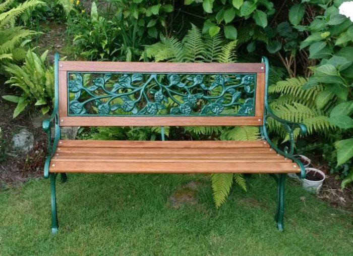 cast-iron backed bench kit